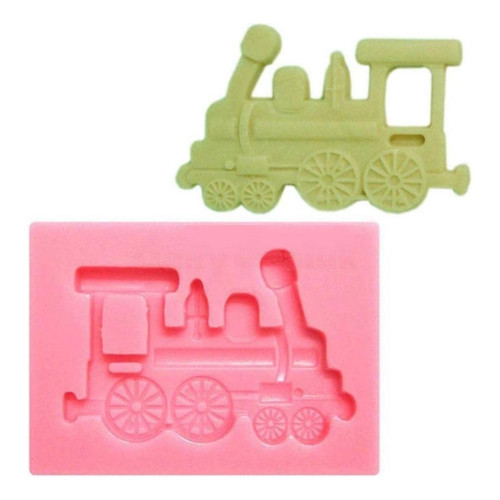Silicone Mold - TRAIN ENGINE / STEAM TRAIN