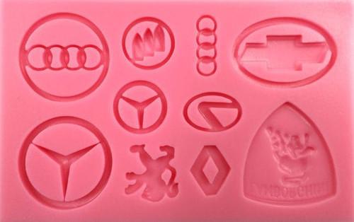 Silicone Mold 10pc - Car Logos