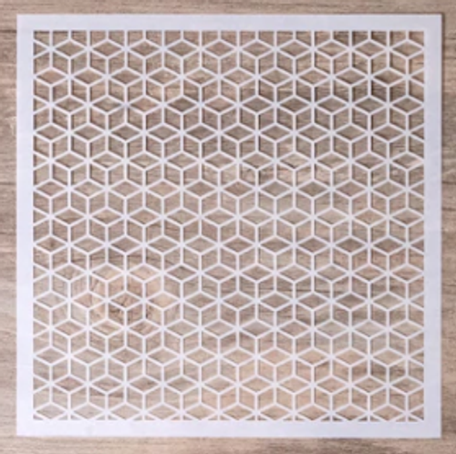 Small Stencil - Diamond Cube Pattern