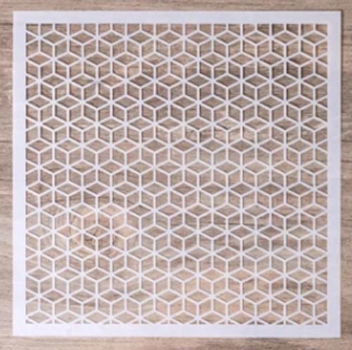 Diamond Cube Pattern Cake Stencil