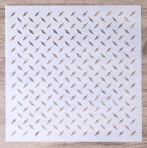 Small Stencil - Diamond Plate Texture