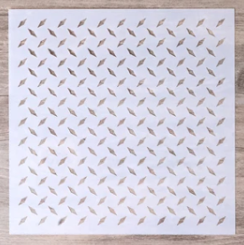 Metal Checker plate Stencil