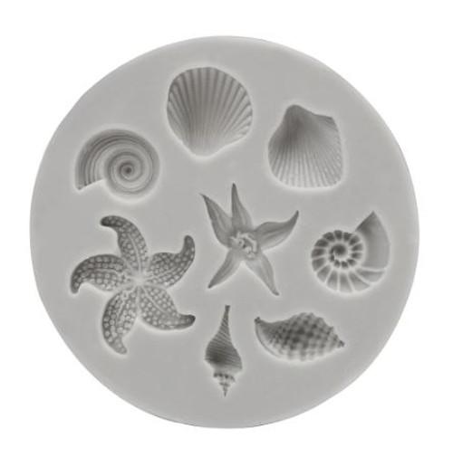 Silicone Mold 8pc - Mini Shells