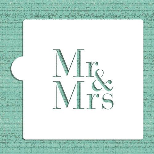 MR & MRS Cake Stencil