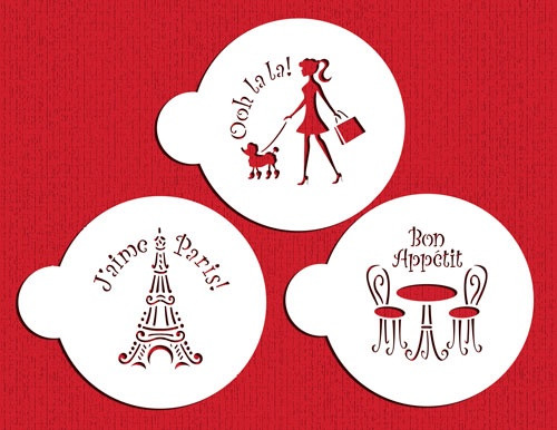 I Love Paris Cokie Set - Designer Stencils C882