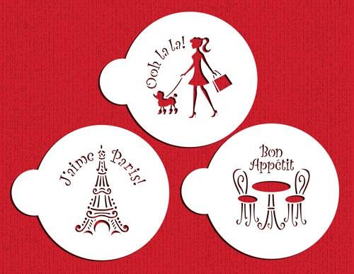 I Love Paris Cokie Set - Designer Stencils C882