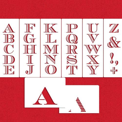 Chevalier stripe Letters C947 -Designer Stenicl