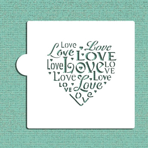 LOVE Cookie Stencil cm044