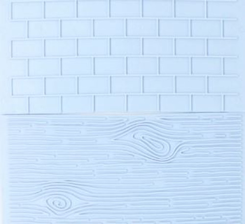 Plastic Embosser - Wood / Brick Pattern