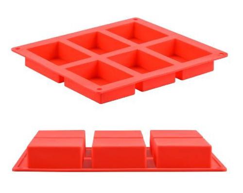 Silicone Mold 6pc - Soap Bar