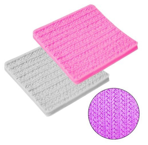 Silicone Mold - Knitted Simple Pattern