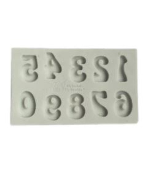 Silicone Mold - Funky 60's Numbers