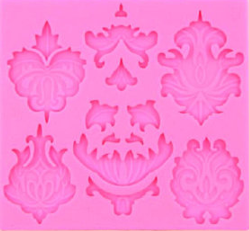 Silicone Mold  6pc - Damask