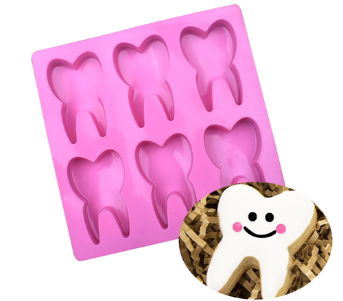 Silicone Mold - Giant Tooth 6pc