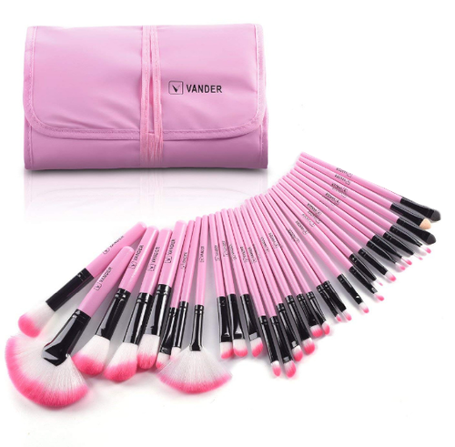 Pink Brush Set 33pc with Case