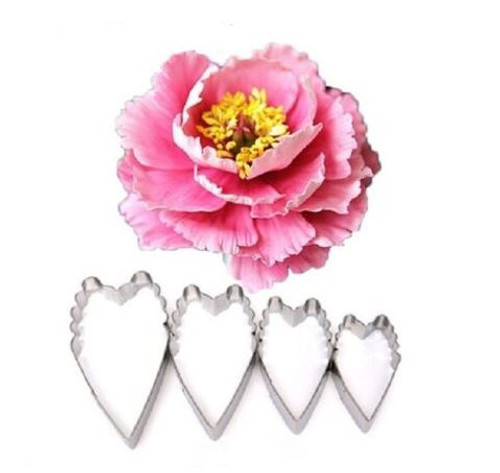 Tin Plate Cutter Set 4pc - Peony/Carnation