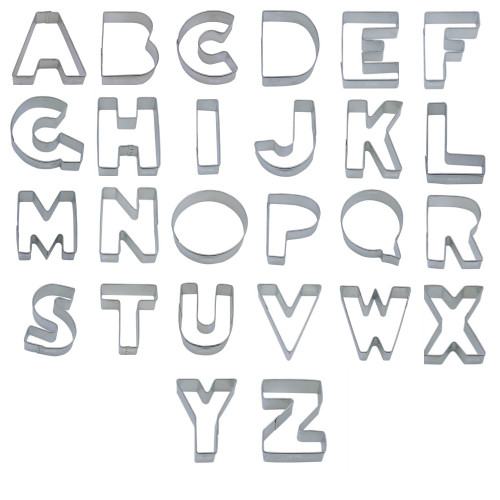 Tin Plate Cutter - Individual Alphabet