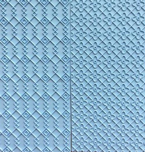 Plastic Impression Embosser - Interlocking Diamonds