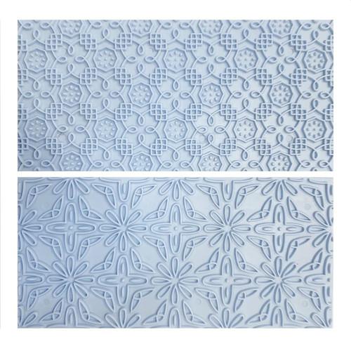 Plastic Impression Embosser - Floral Pattern