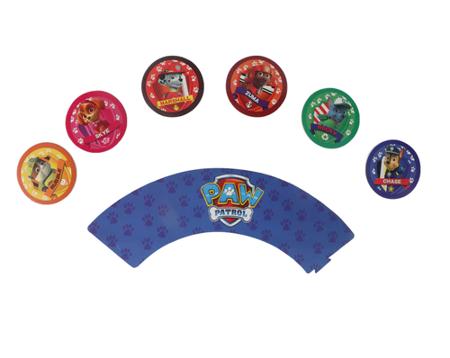 Cupcake Wrap & Toppers 12pc - Paw Patrol