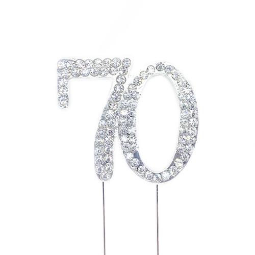 Diamonte Silver Topper 4cm - 70