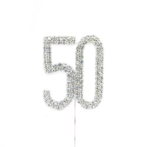 Diamonte Silver Topper 5cm - 50