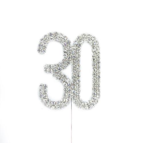 Diamonte Silver Topper 5cm - 30