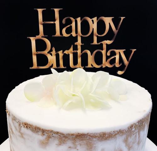 Cake Topper 'Happy Birthday'  (Print) - Timber