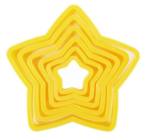 Plastic Cutter 6pc - Stars