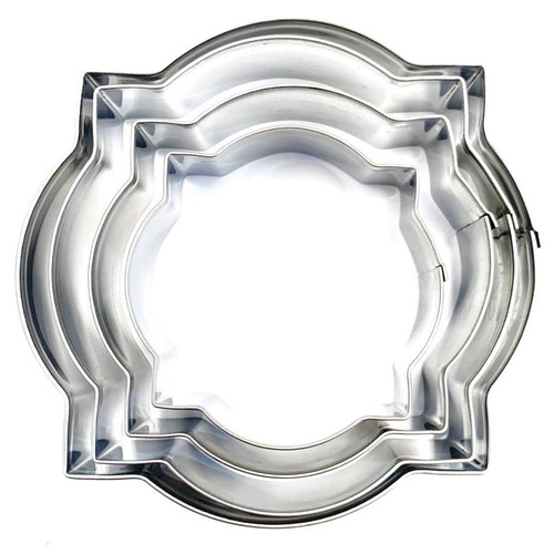 Stainless Steel Cutters 4pc - Round Plaque