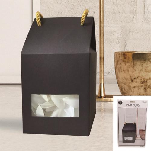 Party Boxes Window Face 3pk - BLACK