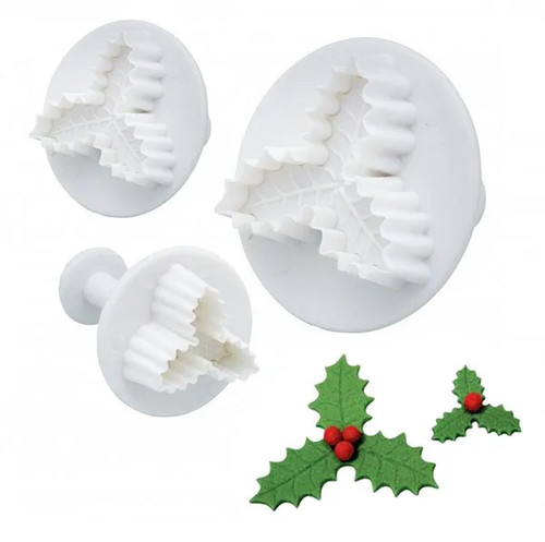 Plunger Cutter Set 3pc - Christmas Holly
