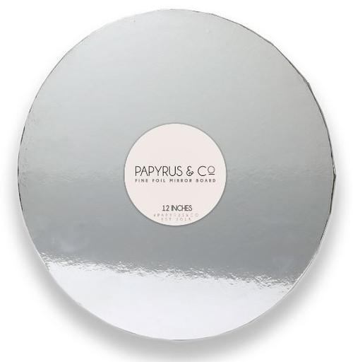 """Mirror Foil Cake Board SILVER - 12"""" ROUND"""