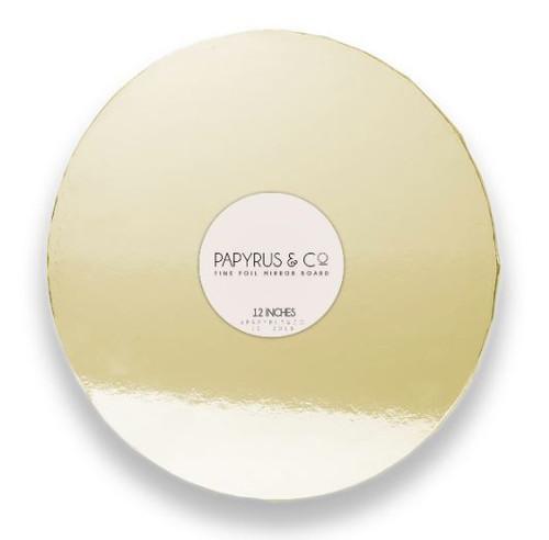 """Mirror Foil Cake Board GOLD - 12"""" ROUND"""