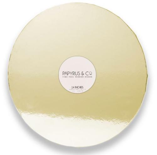 """Mirror Foil Cake Board GOLD - 14"""" ROUND"""
