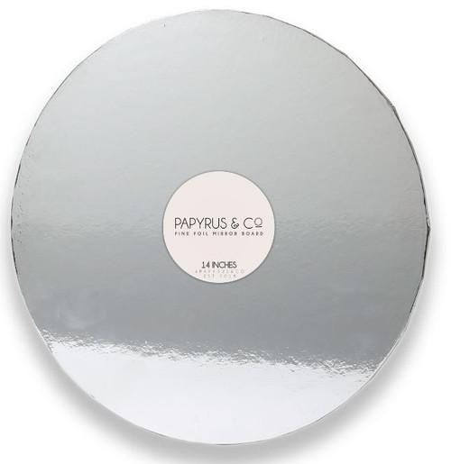 """Mirror Foil Cake Board SILVER - 14"""" ROUND"""