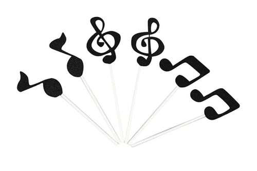 Cupcake Toppers 6pc - Music Notes