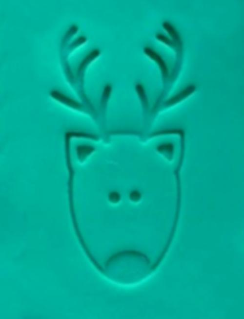 Cookie Embosser - 'Reindeer Face'