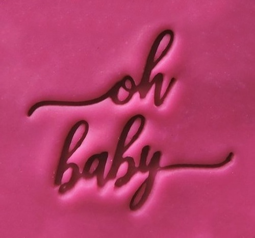 Cookie Embosser - 'Oh Baby'