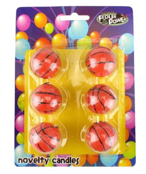 Novelty Candles 6pc - BASKETBALLS