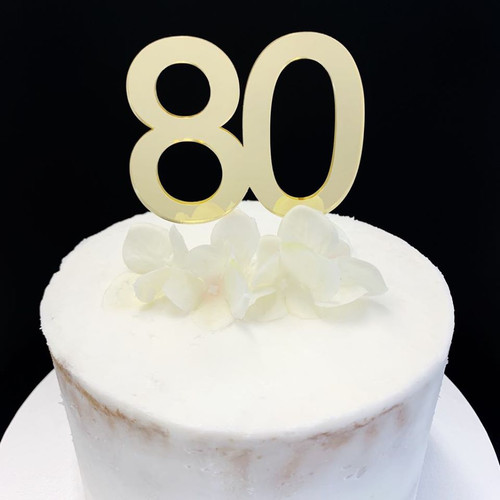 "Cake Topper ""80"" - 7cm - GOLD"