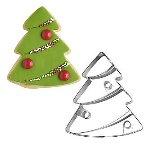 Decorated Christmas Tree Cookie Cutter