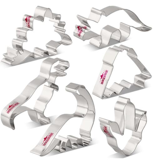 Stainless Steel Cutter Set 6pc - JURASSIC DINOSAURS