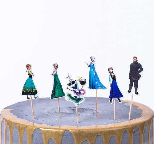 Cupcake Toppers 24pc - Frozen