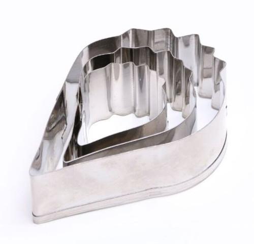 Tin Plate Cutter 3pc - POPPY FLOWER
