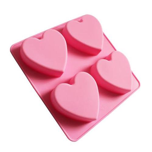 Dessert Silicone Mold - HEART 4 CAVITY