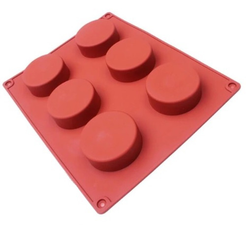 Dessert Silicone Mold - CYLINDER 6 CAVITY