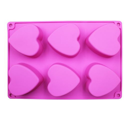 Chocolate Dessert Mold - HEARTS 6PC