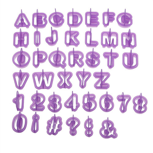 Alphabet Cutters - Letter & Number Set Purple