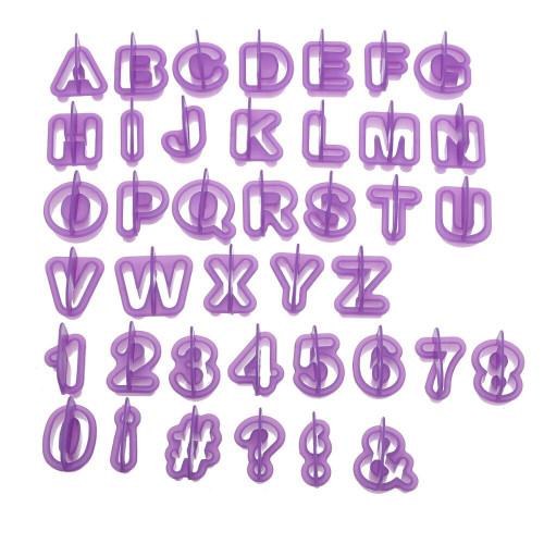 Alphabet Cutters - Letter & Number Set Purple